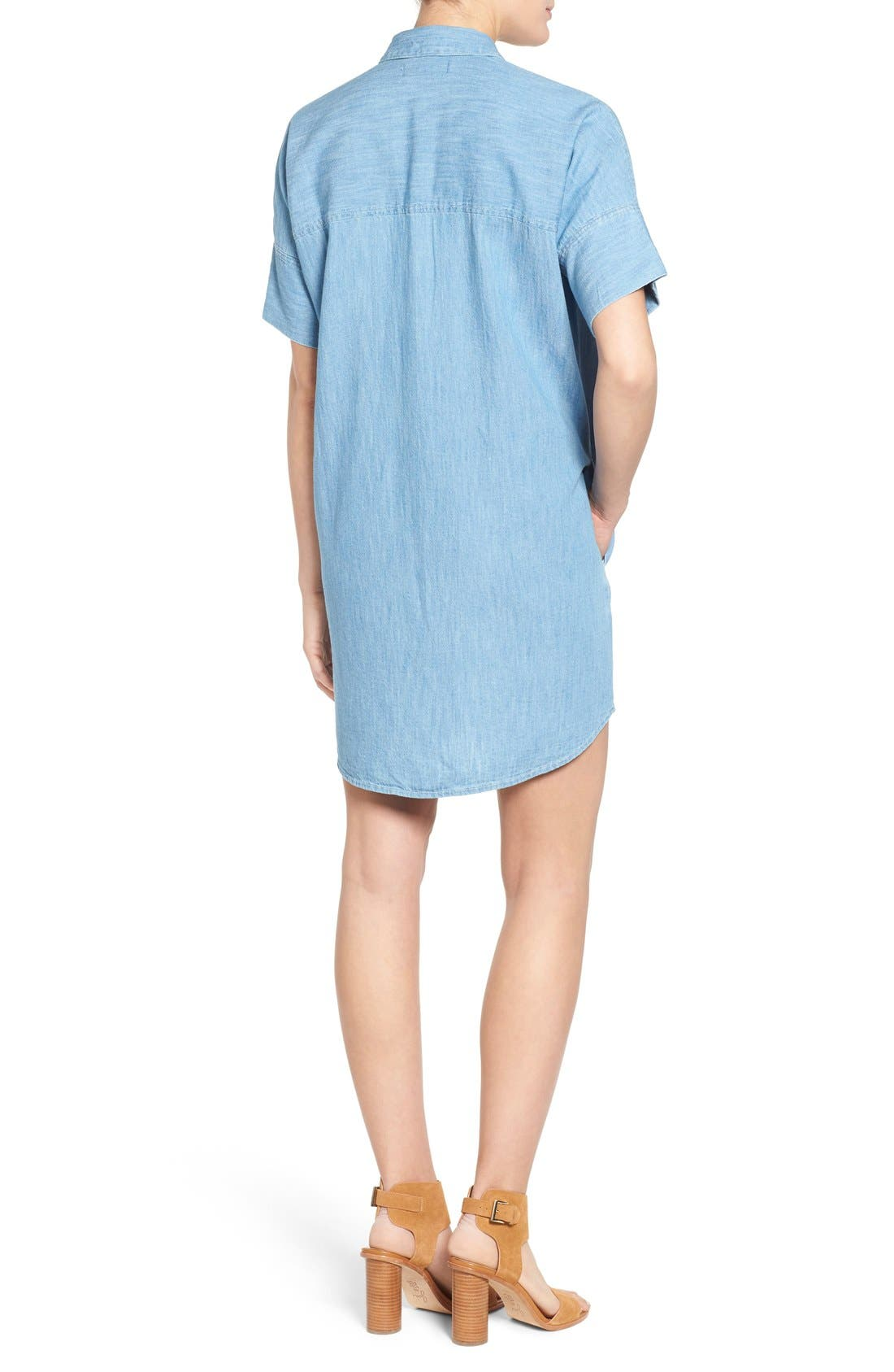 Alternate Image 2  - Madewell 'Courier' Denim Shirtdress