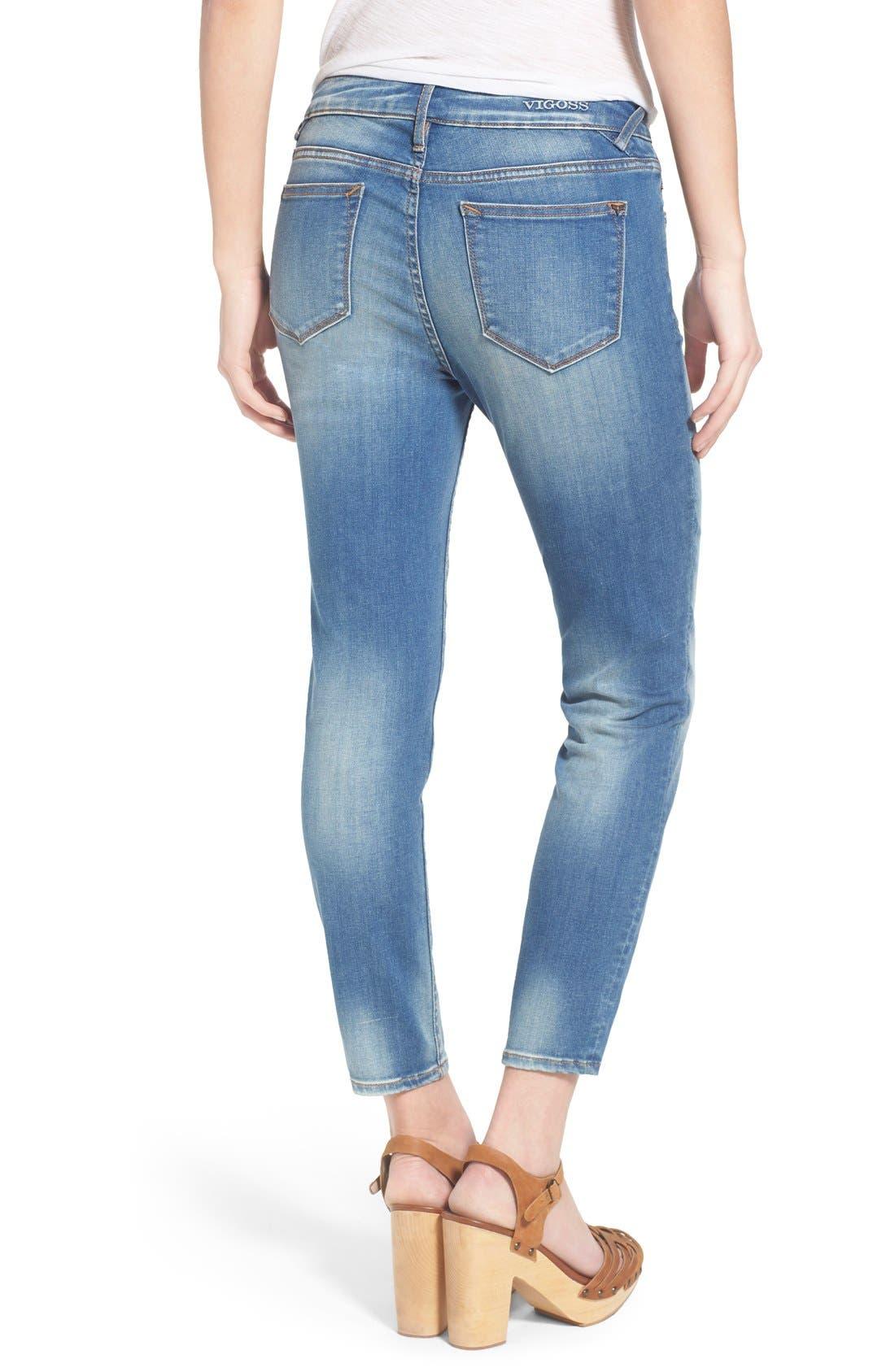 Alternate Image 2  - Vigoss Crop High Rise Jeans