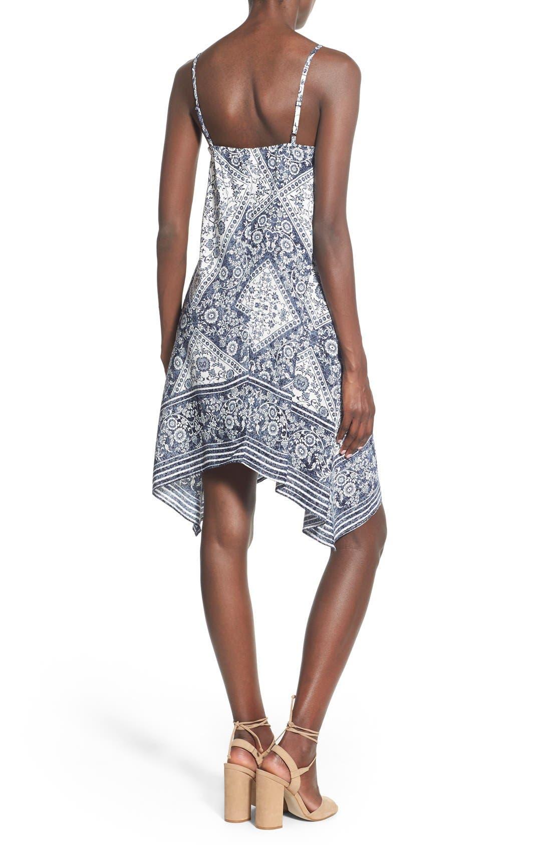 Alternate Image 2  - Trixxi Bandana Print Handkerchief Hem Dress