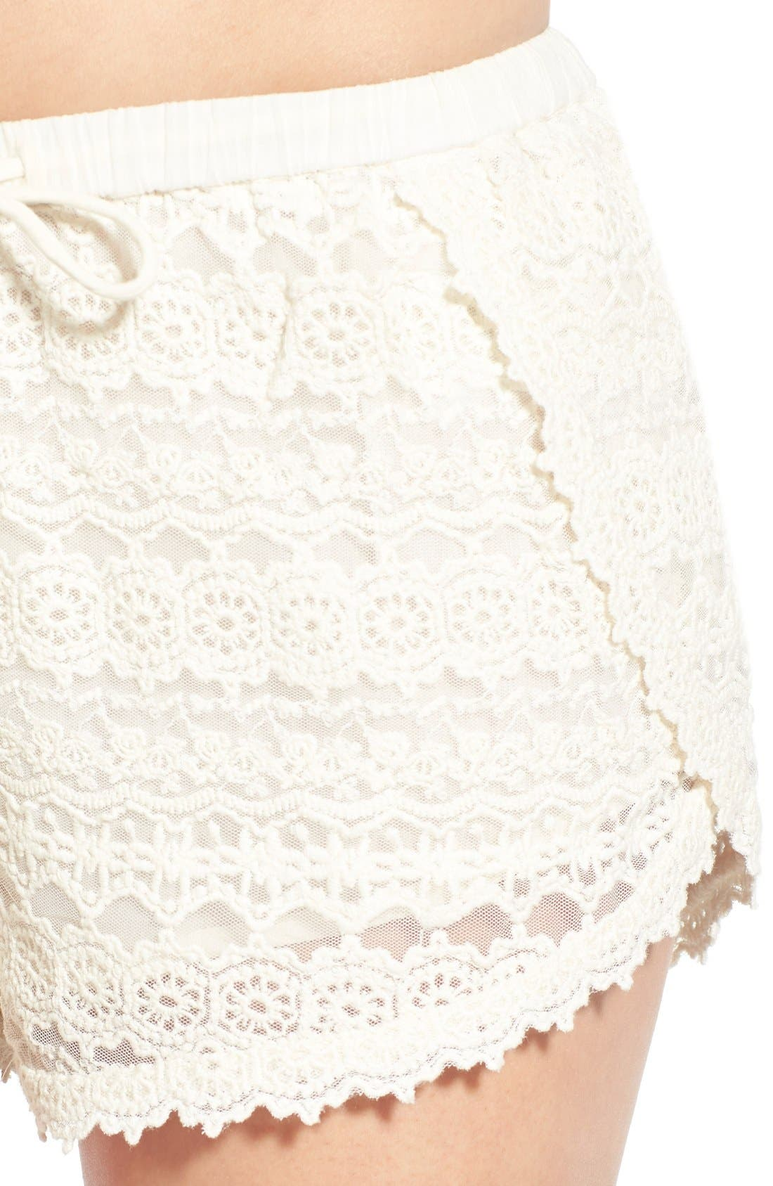 Alternate Image 4  - Amuse Society 'Chelles' Lace Shorts