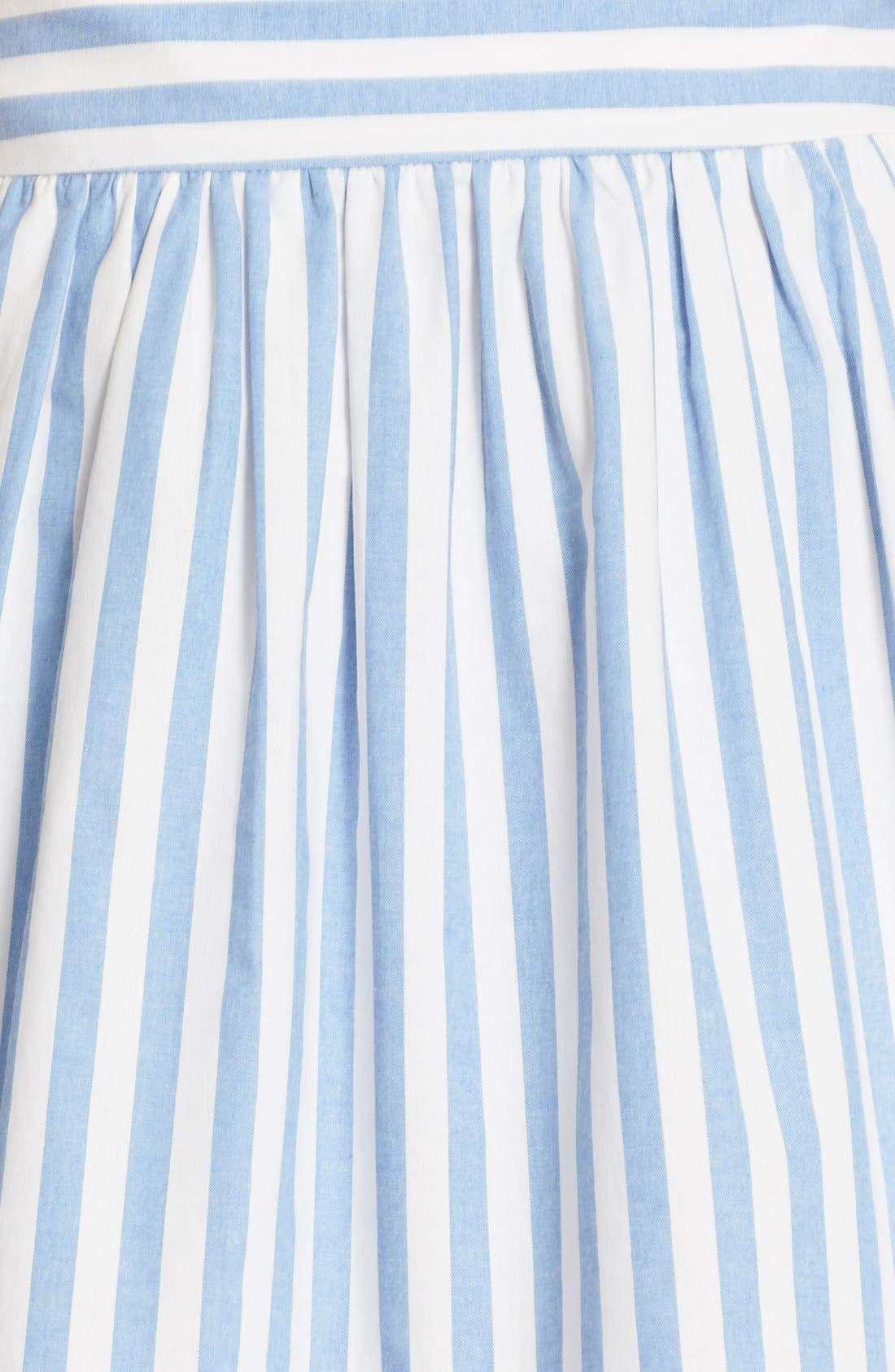 Alternate Image 6  - Milly Breton Stripe A-Line Skirt