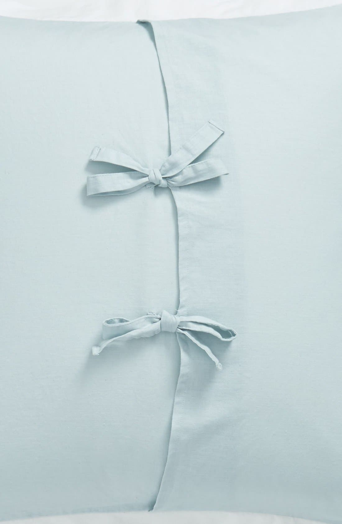 'Spa' Washed Linen Euro Sham,                             Alternate thumbnail 3, color,                             Blue