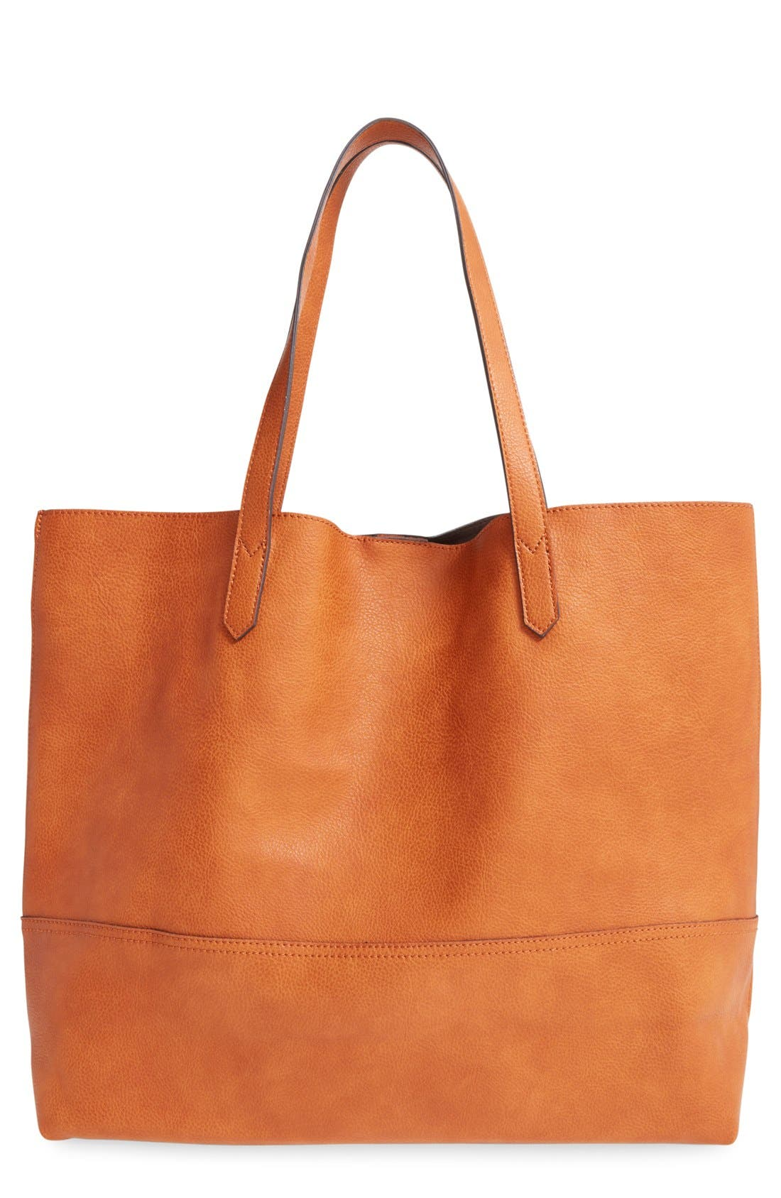 Alternate Image 1 Selected - Sole Society Dawson Oversize Faux Leather Shopper