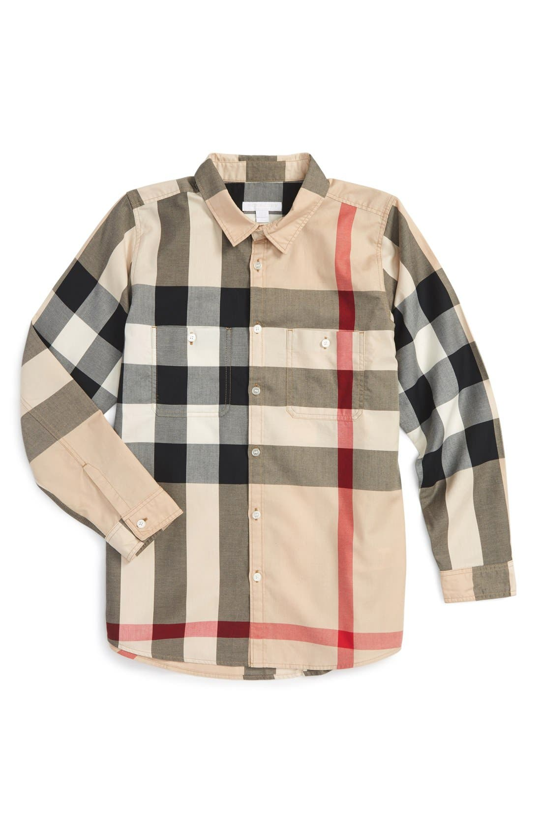 Main Image - Burberry 'Mini Camber' Check Long Sleeve Shirt (Little Boys & Big Boys)