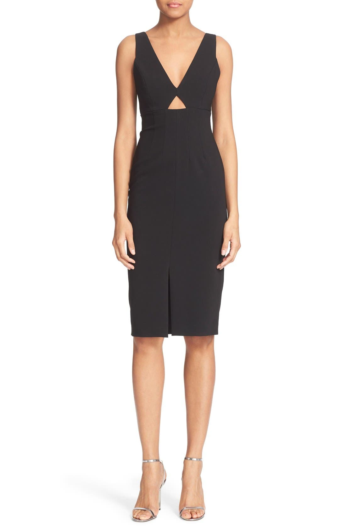 Main Image - Alice + Olivia 'Dash' V-Neck Midi Dress