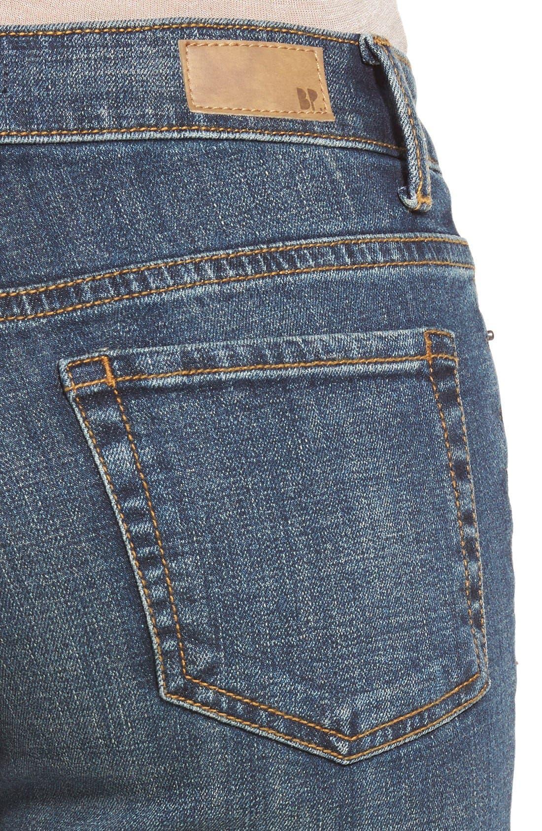 Alternate Image 4  - BP. Mid Rise Flare Jeans (Dark Bloom)