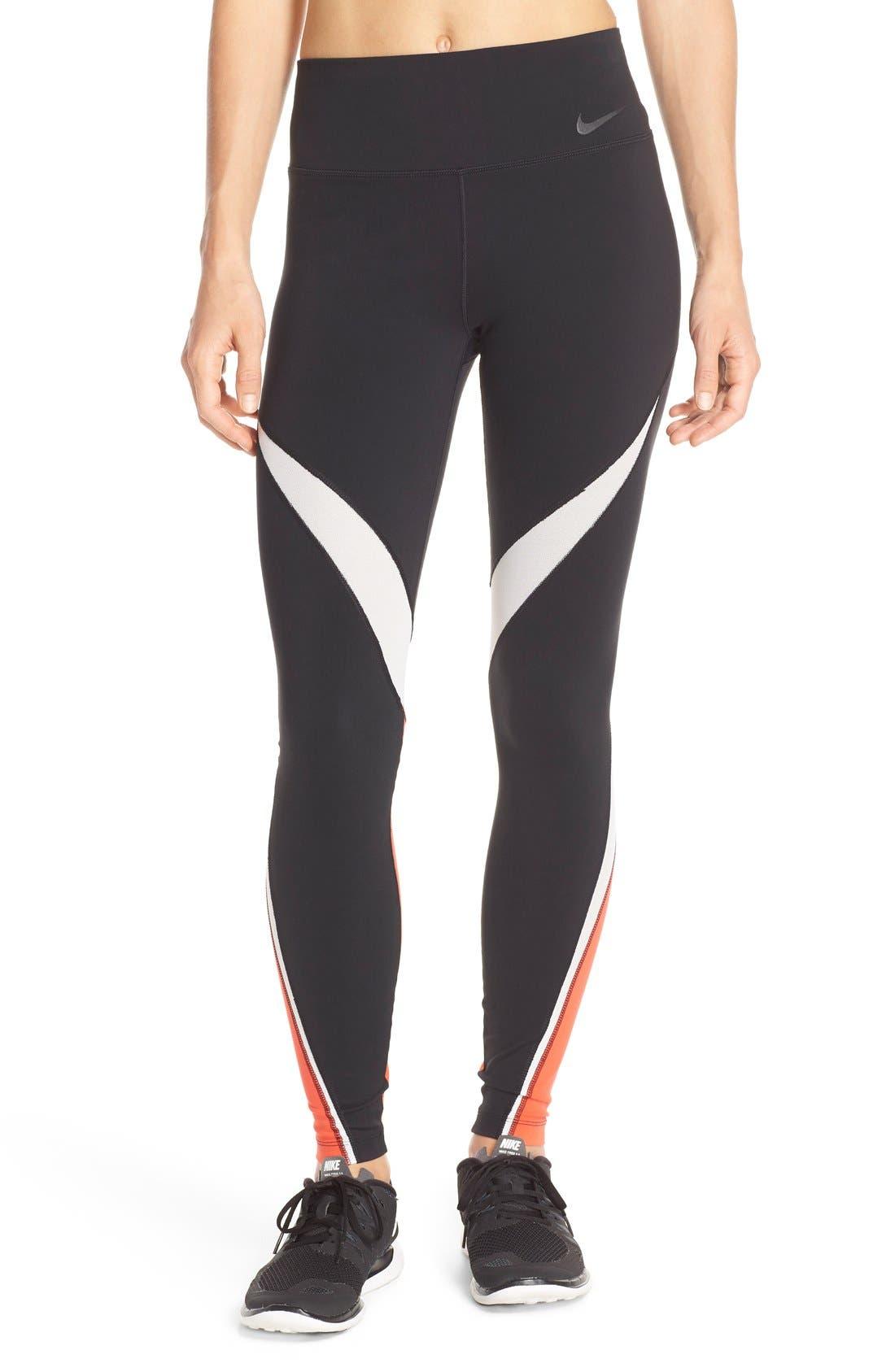 Main Image - Nike 'Legendary' Mesh Inset Dri-FIT Tights