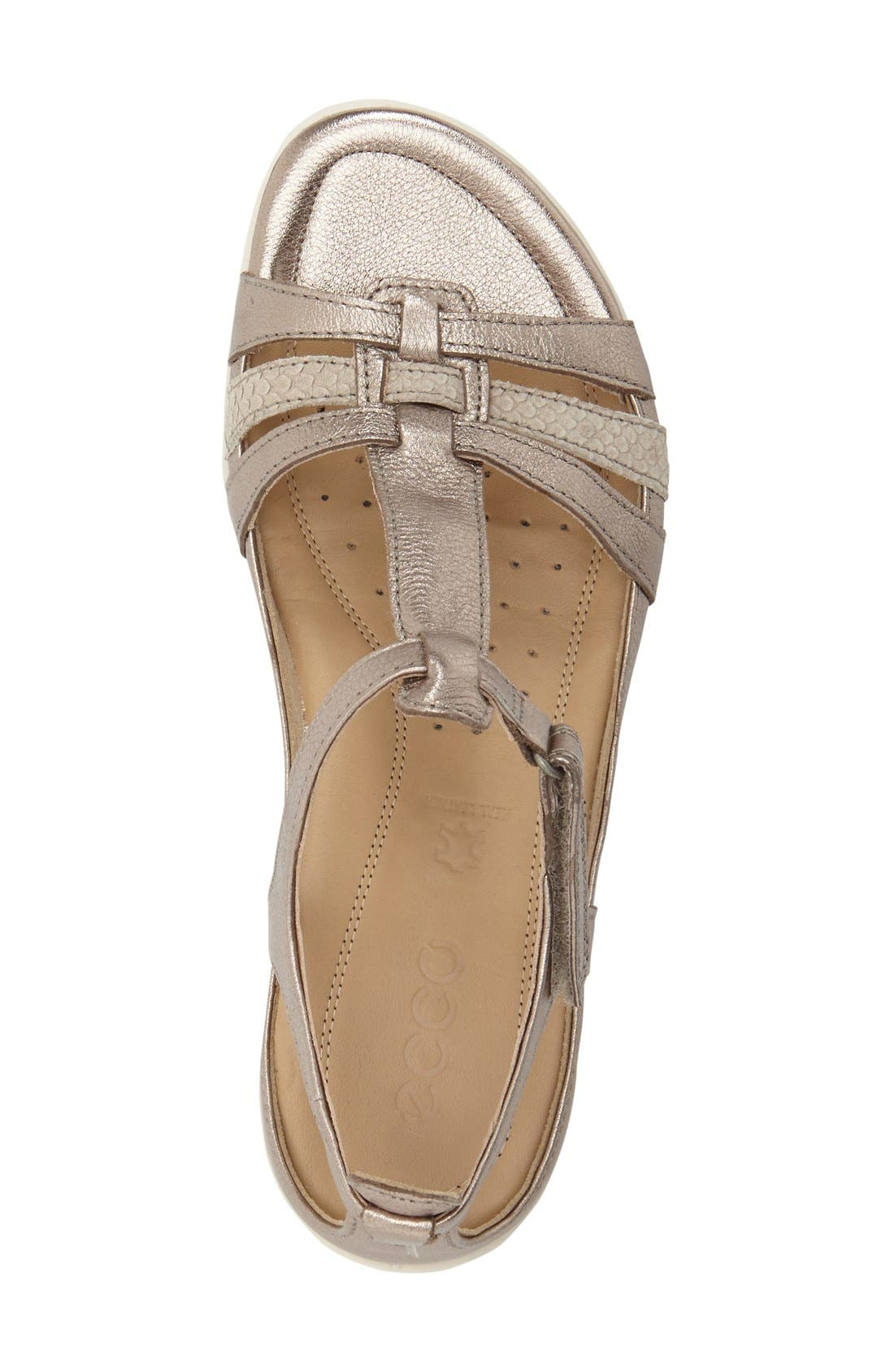 'Flash' Sandal,                             Alternate thumbnail 3, color,                             Warm Grey/ Metallic Leather