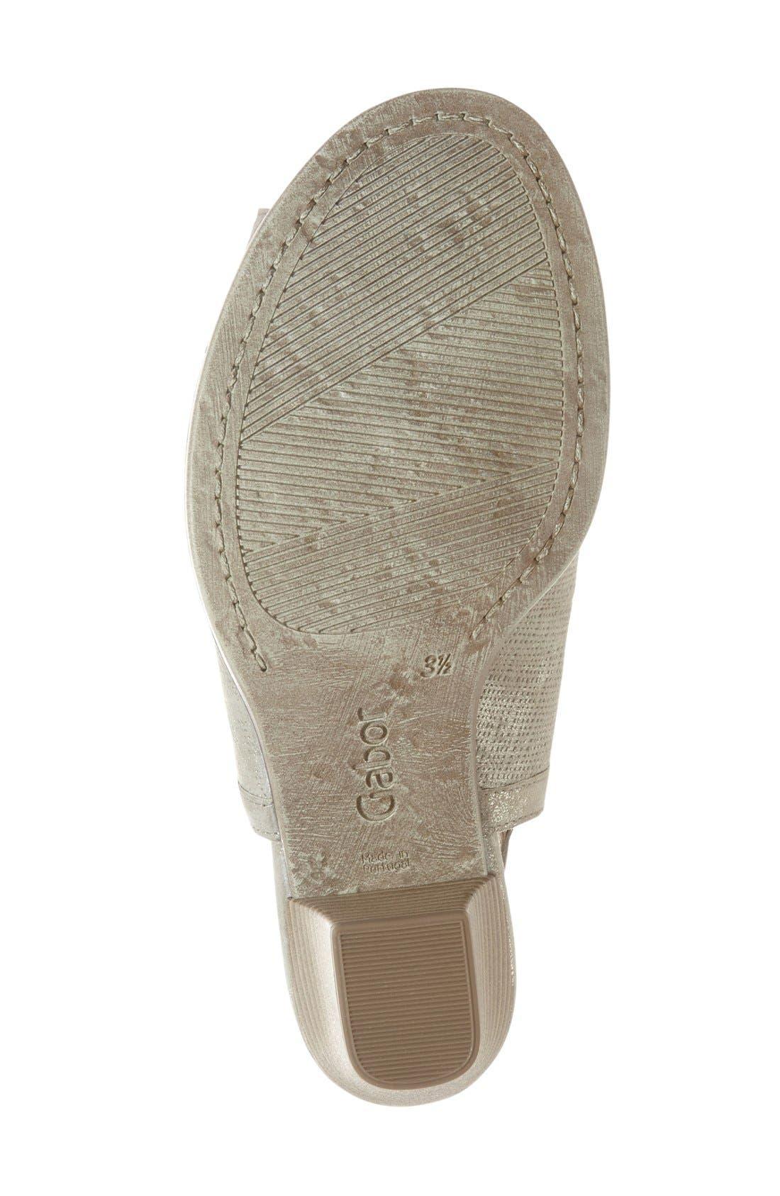 Alternate Image 4  - Gabor Open Toe Leather Sandal (Women)