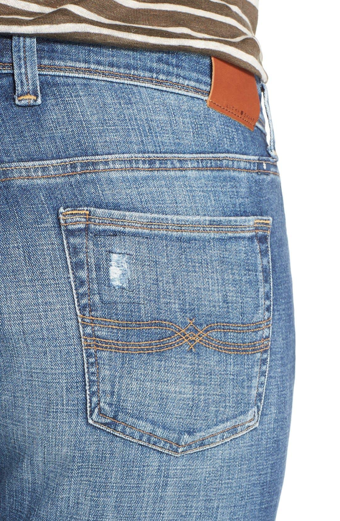Alternate Image 5  - Lucky Brand Reese Distressed Boyfriend Jeans (Northridge Park) (Plus Size)