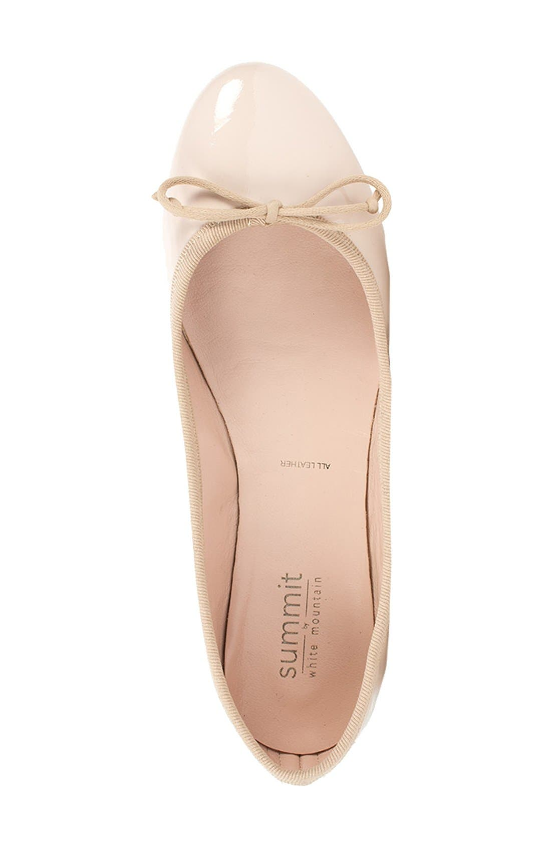 'Kendall' Ballet Flat,                             Alternate thumbnail 3, color,                             Nude Patent Leather