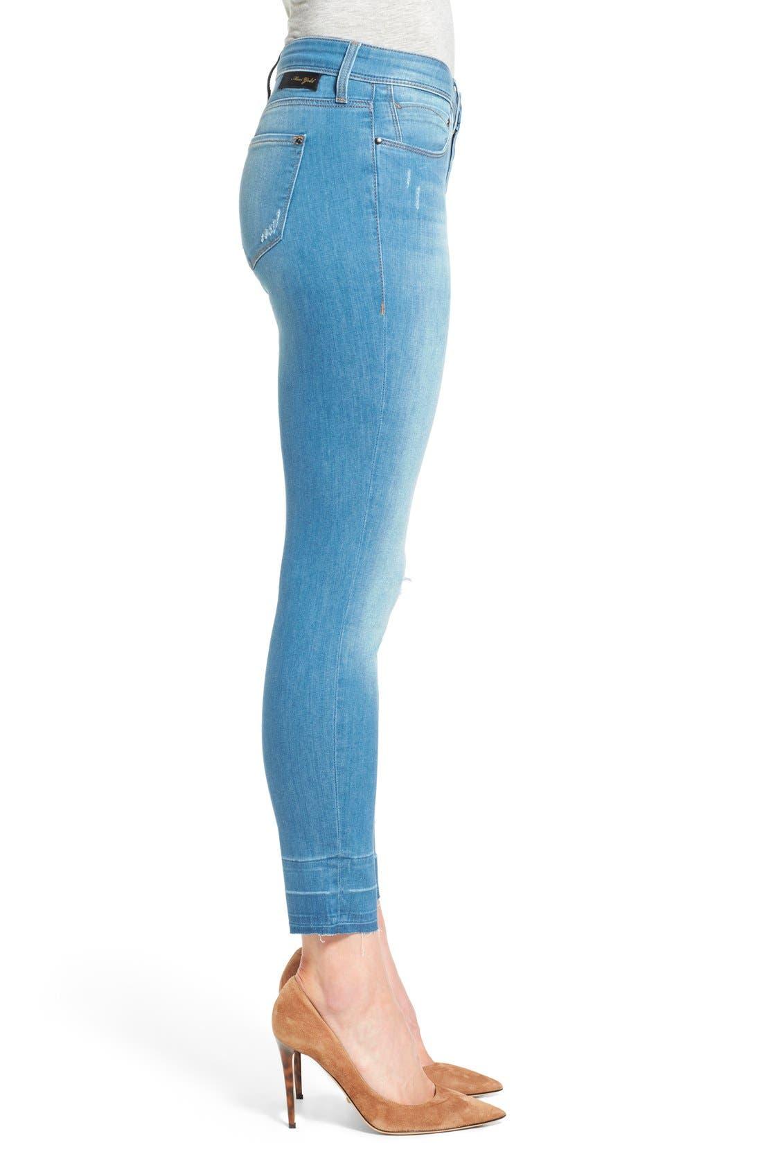 Alternate Image 3  - Mavi Jeans Gold 'Alexa' Stretch Ankle Skinny Jeans