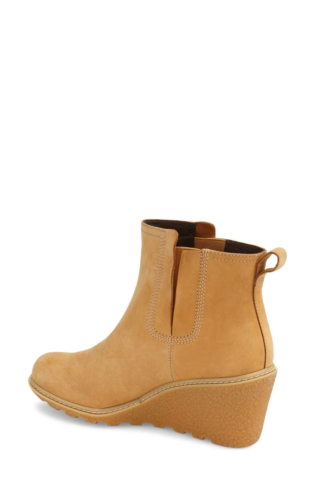 'Amston' Chelsea Wedge Boot,                             Alternate thumbnail 2, color,                             Wheat Nubuck Leather