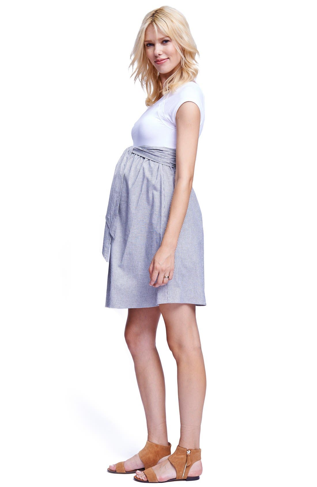 Alternate Image 3  - Maternal America Scoop Neck Maternity Dress