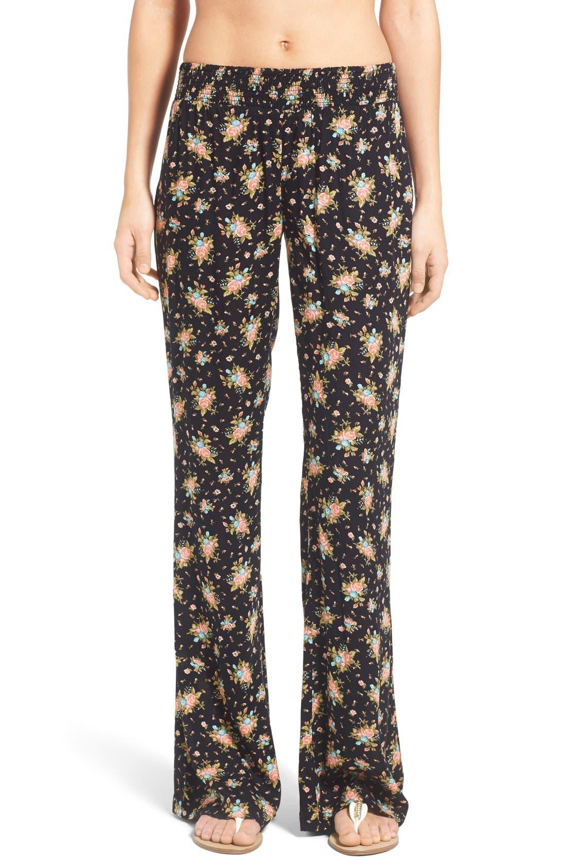 Main Image - Volcom 'Rough Edges' Floral Print Pants