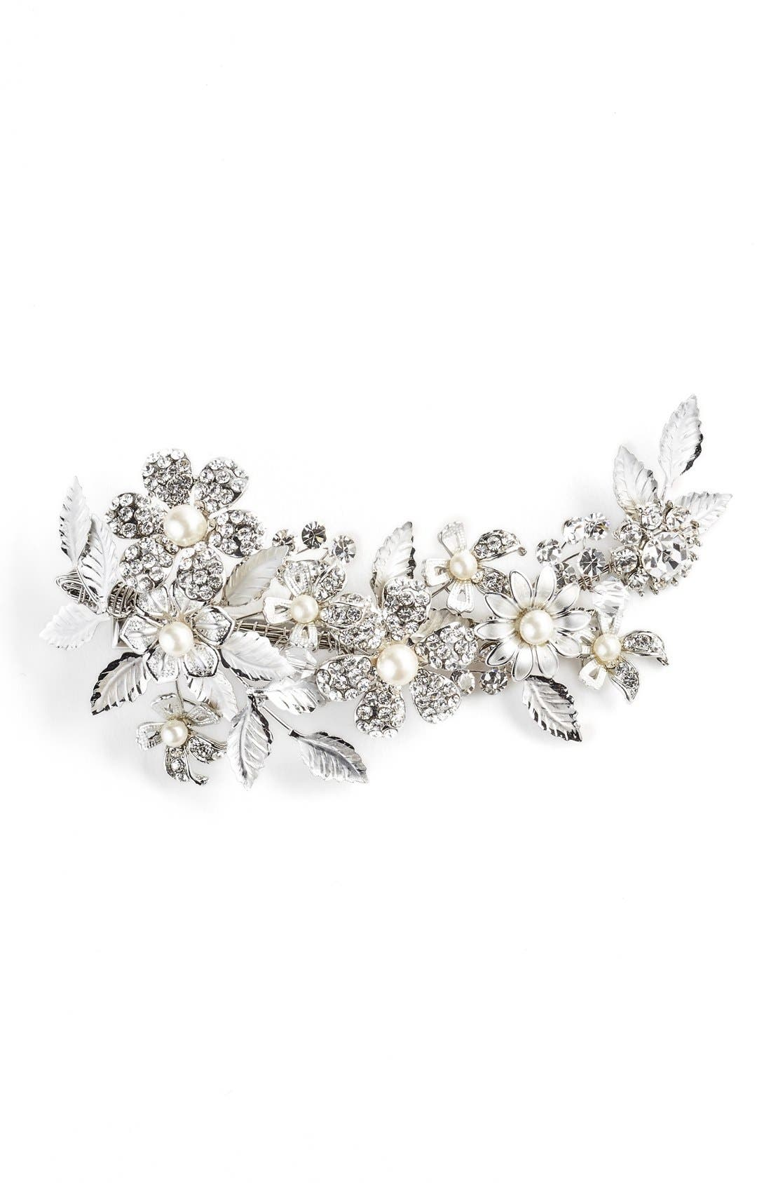 'Mary Beth' Hair Comb,                         Main,                         color, Silver