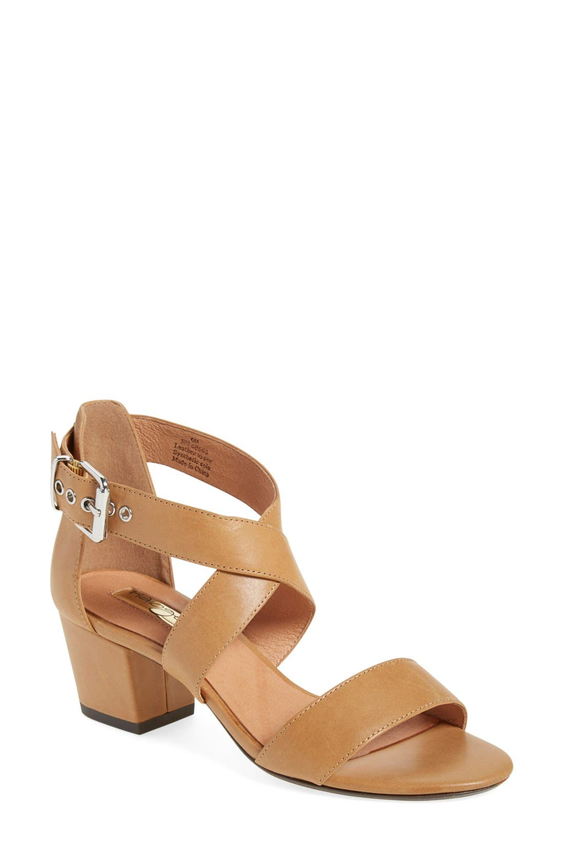 Halogen 'Rena' Crisscross Strap Sandal,                             Main thumbnail 1, color,                             Cognac