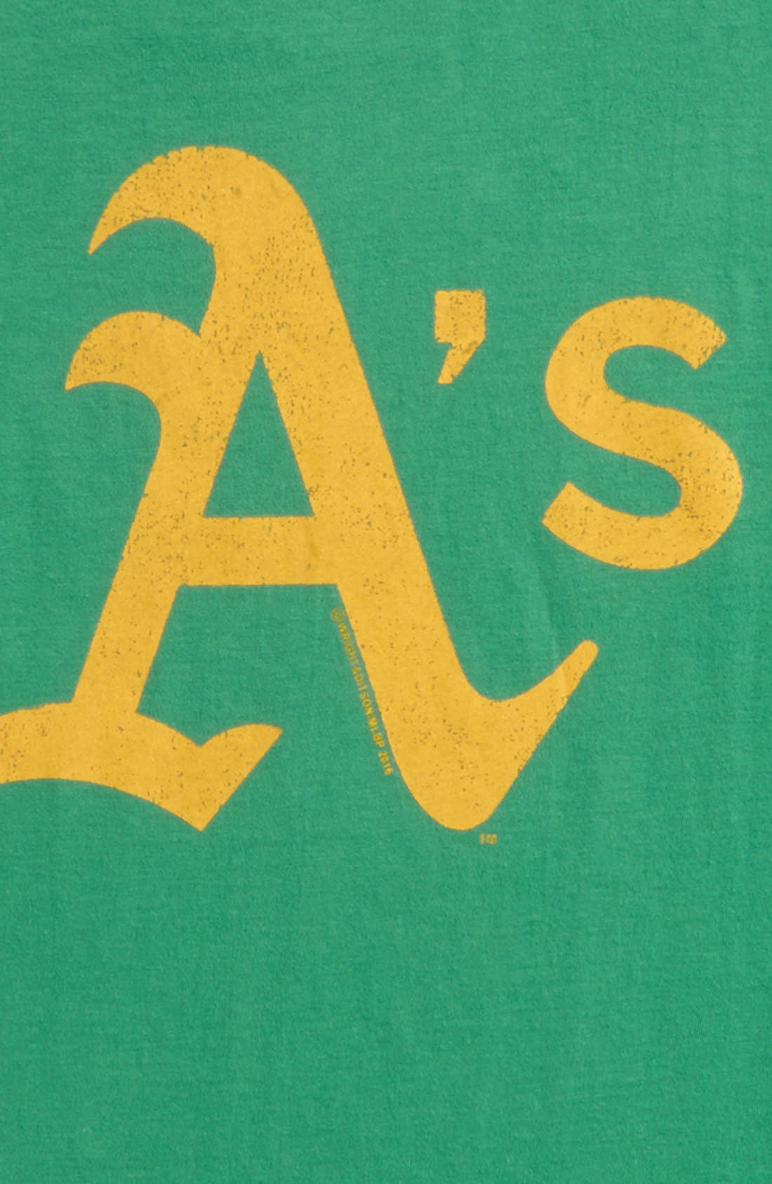 'Oakland Athletics' T-Shirt,                             Alternate thumbnail 2, color,                             Green