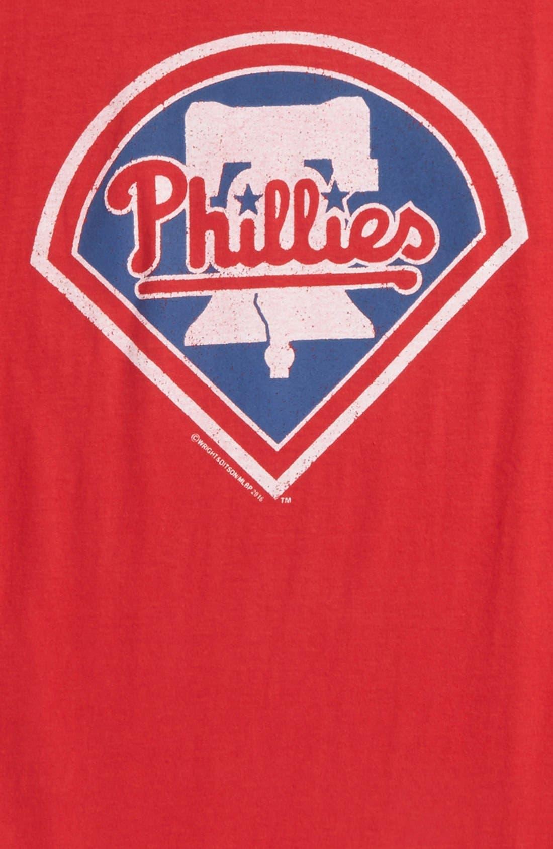 'Philadelphia Phillies' T-Shirt,                             Alternate thumbnail 2, color,                             Red