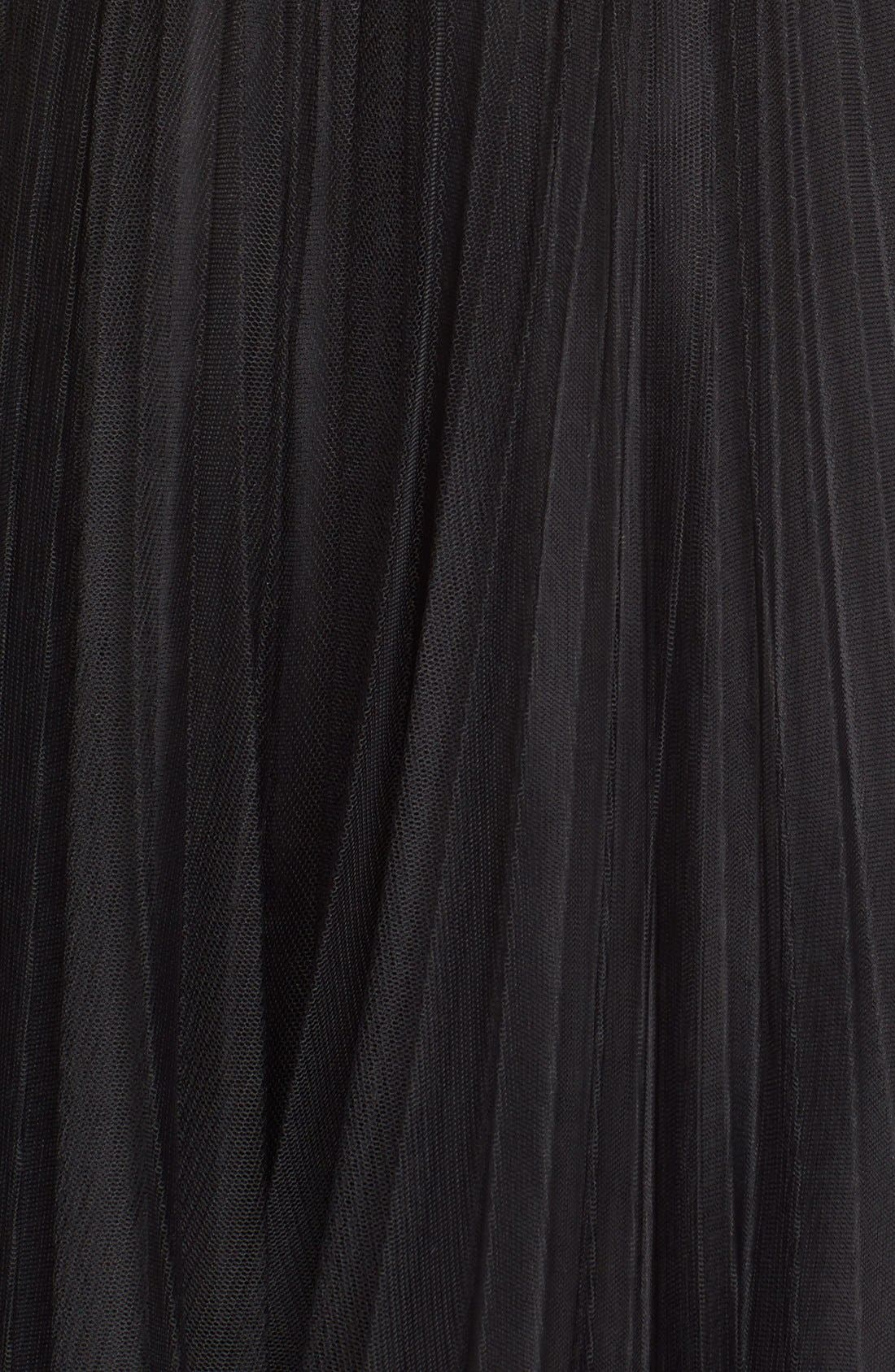 Alternate Image 5  - Adrianna Papell Pleated Tulle Midi Skirt