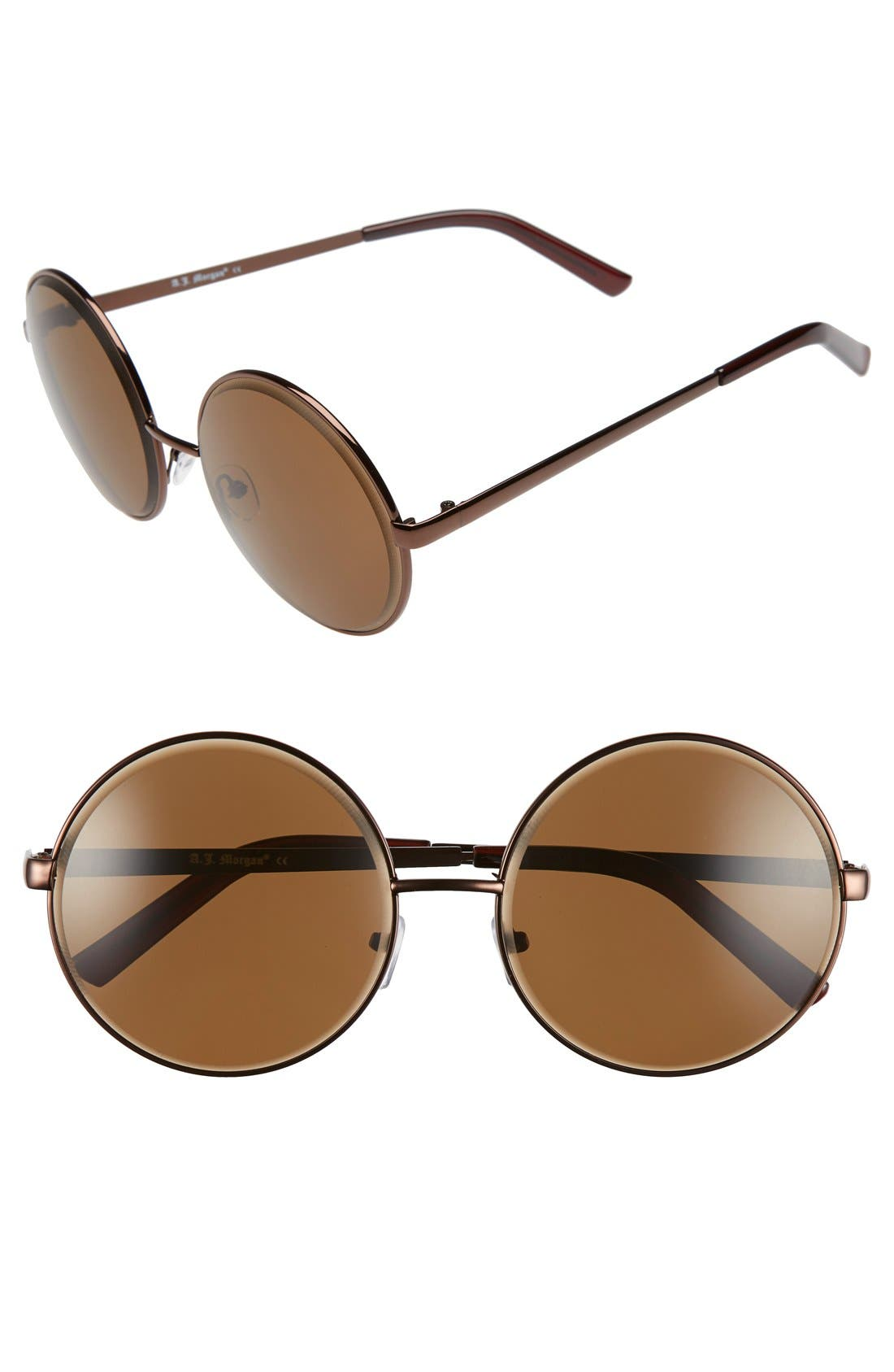 Main Image - A.J. Morgan 'Global' 60mm Oversize Round Sunglasses