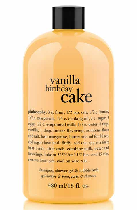 Philosophy Vanilla Birthday Cake Shampoo Shower Gel Bubble Bath