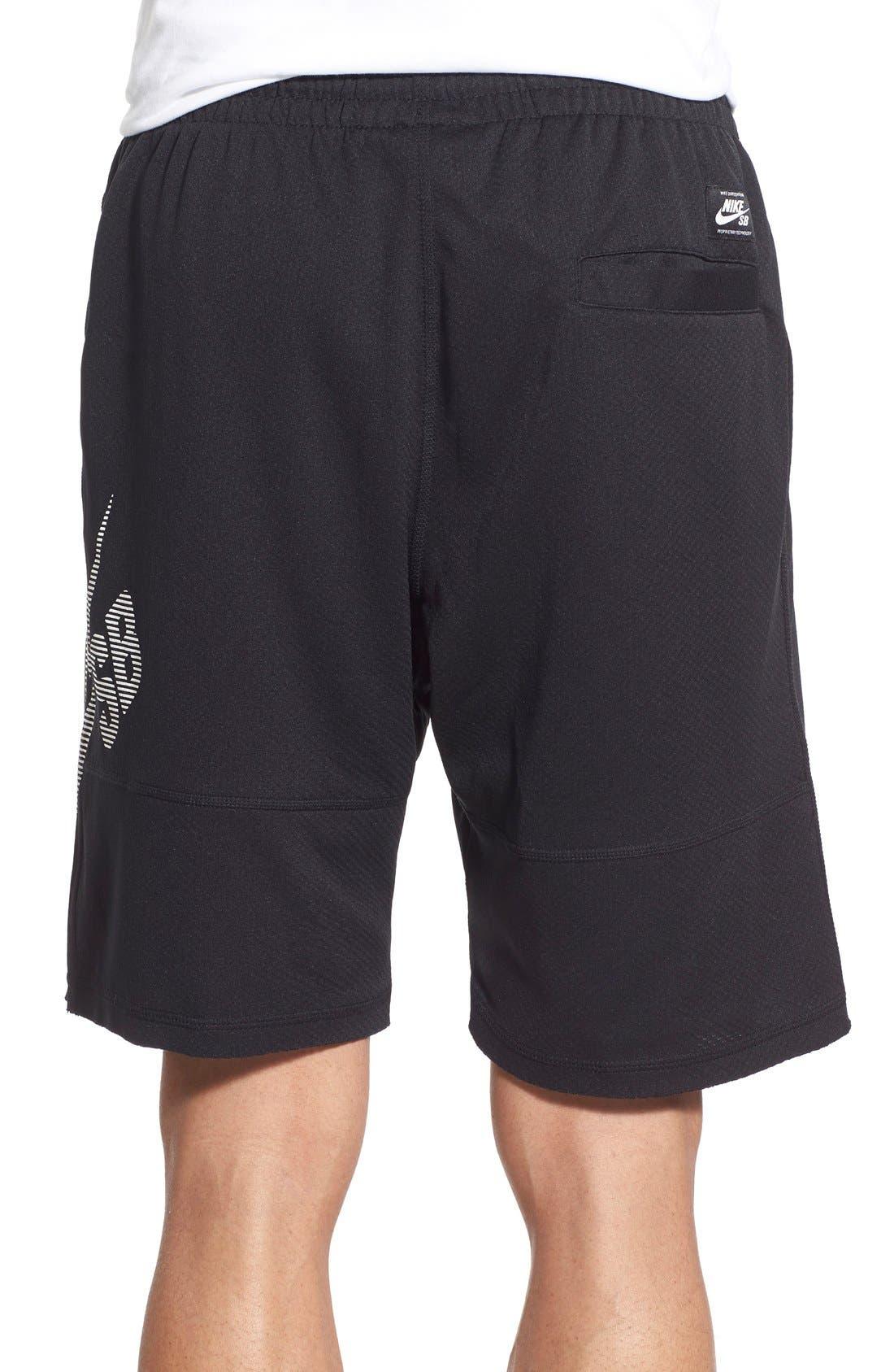 SB 'Stripe Sunday' Dri-FIT Shorts,                             Alternate thumbnail 2, color,                             Black/White