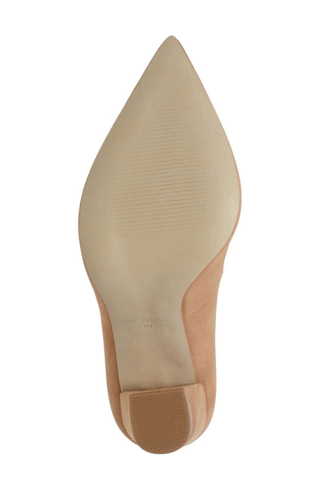 Alternate Image 4  - Steve Madden 'Primpy' Pointy Toe Block Heel Pump (Women)