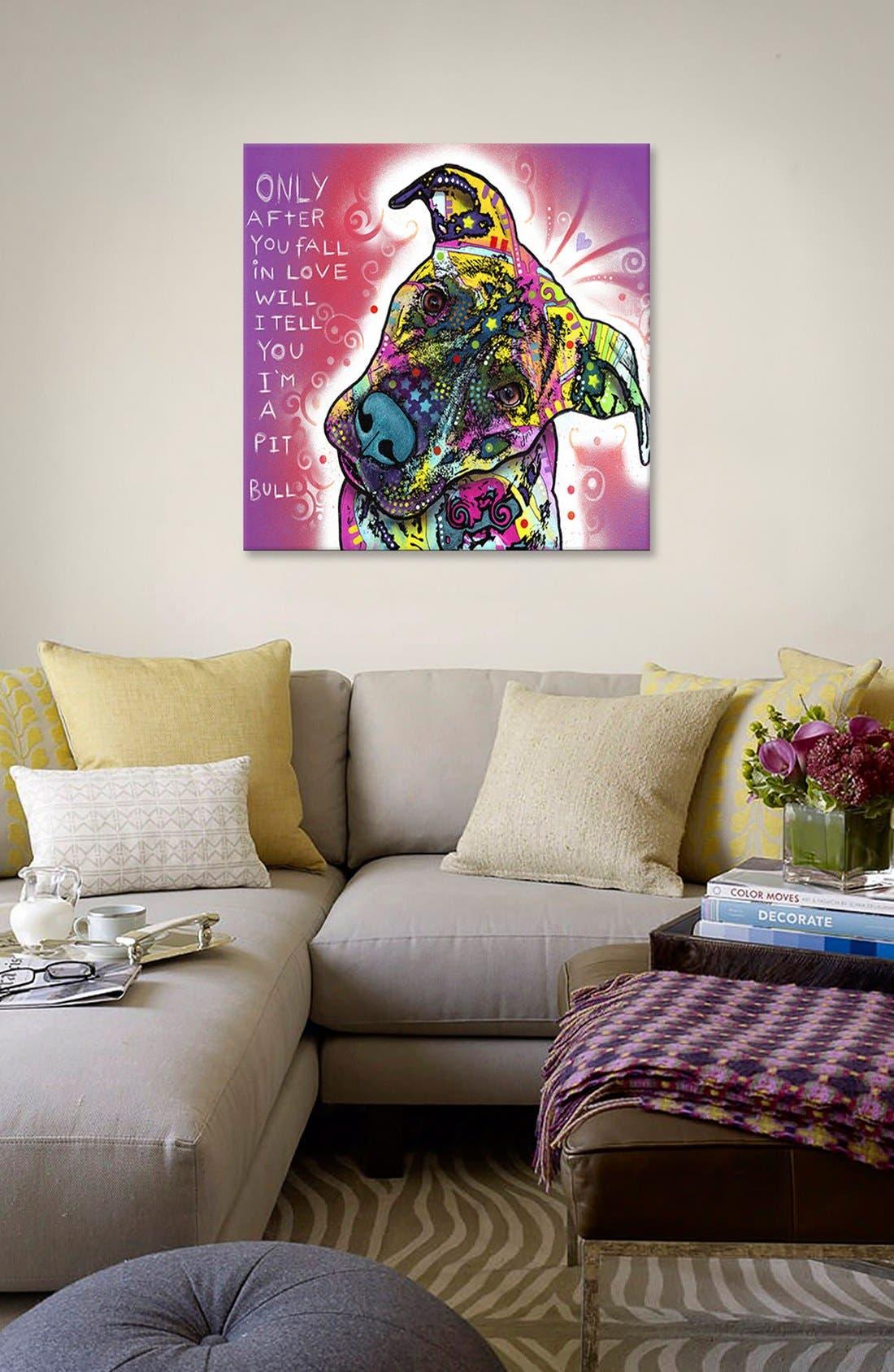 'I'm a Pit Bull - Dean Russo' Giclée Print Canvas Art,                             Alternate thumbnail 2, color,                             Purple