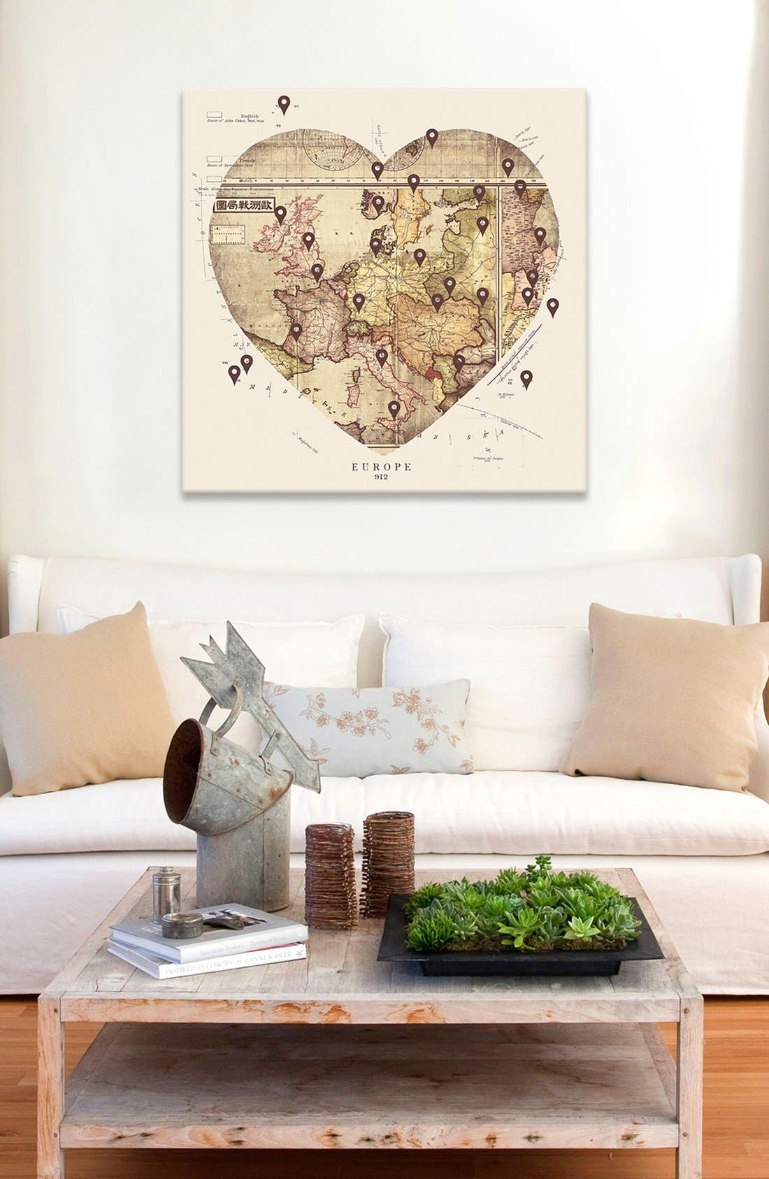 'Love to Travel' Giclée Print Canvas Art,                             Alternate thumbnail 2, color,                             Beige
