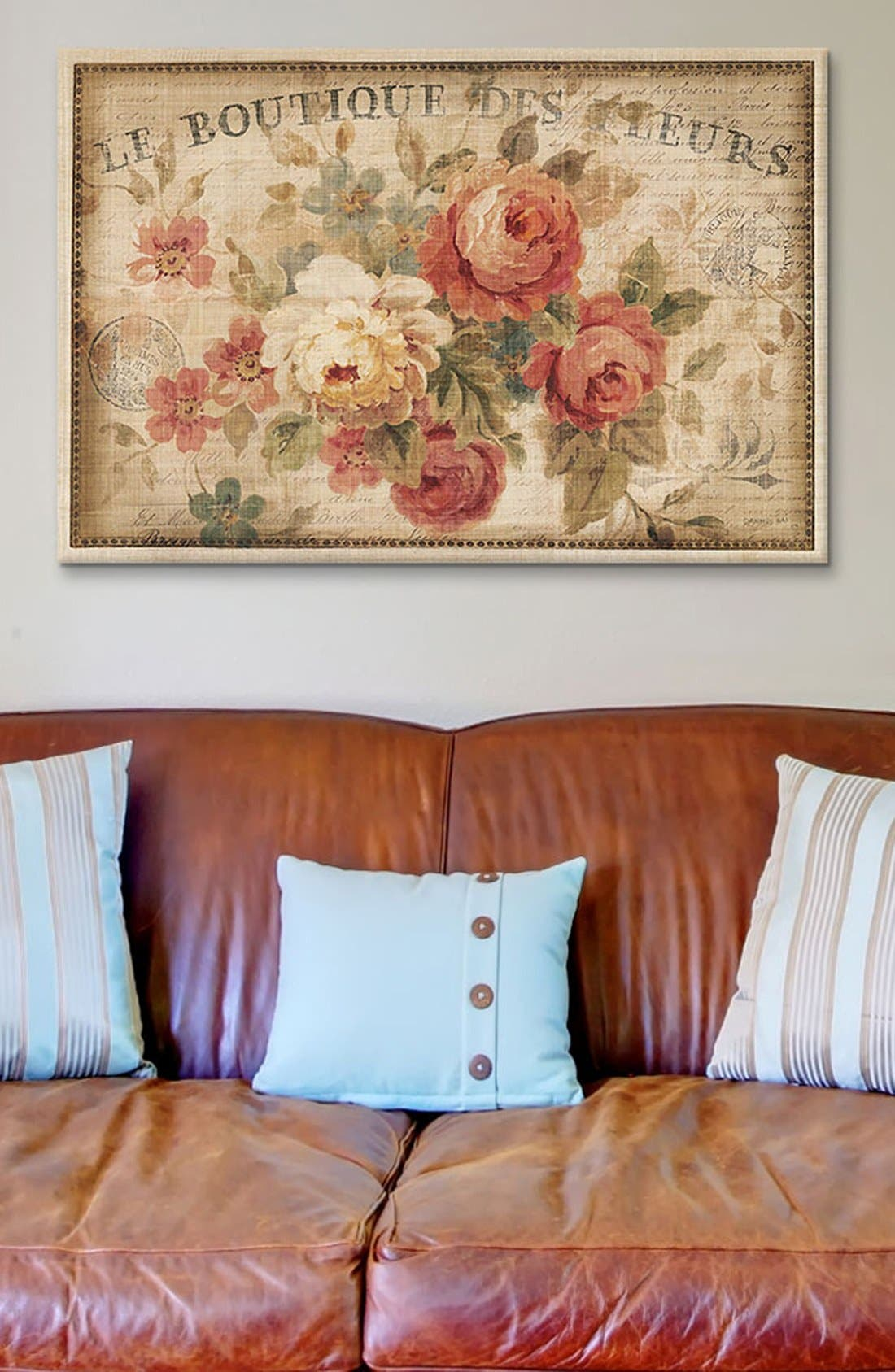 'Parisian Flowers' Giclée Print Canvas Art,                             Alternate thumbnail 2, color,                             Beige