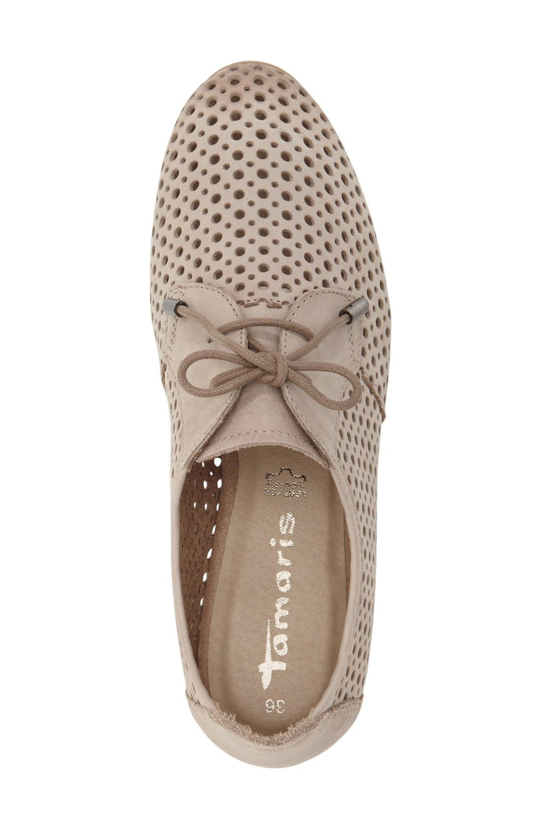 'Drene' Perforated Oxford,                             Alternate thumbnail 3, color,                             Pepper Suede