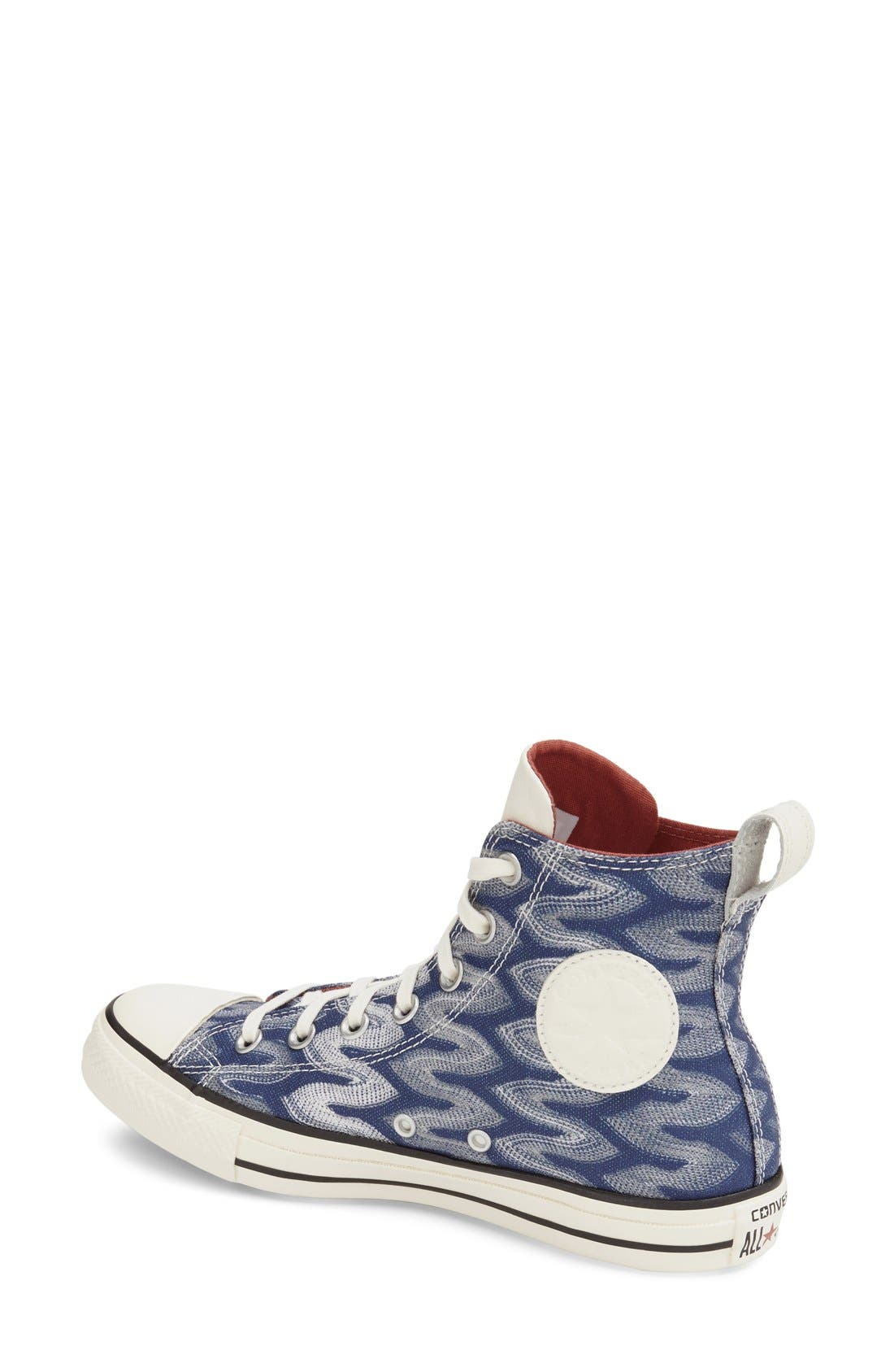 Alternate Image 2  - Converse x Missoni Chuck Taylor® All Star® 'Flame' High Top Sneaker (Women)