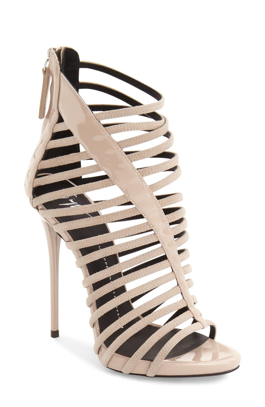 Alternate Image 1 Selected - Giuseppe Zanotti 'Coline' Cage Sandal (Women)
