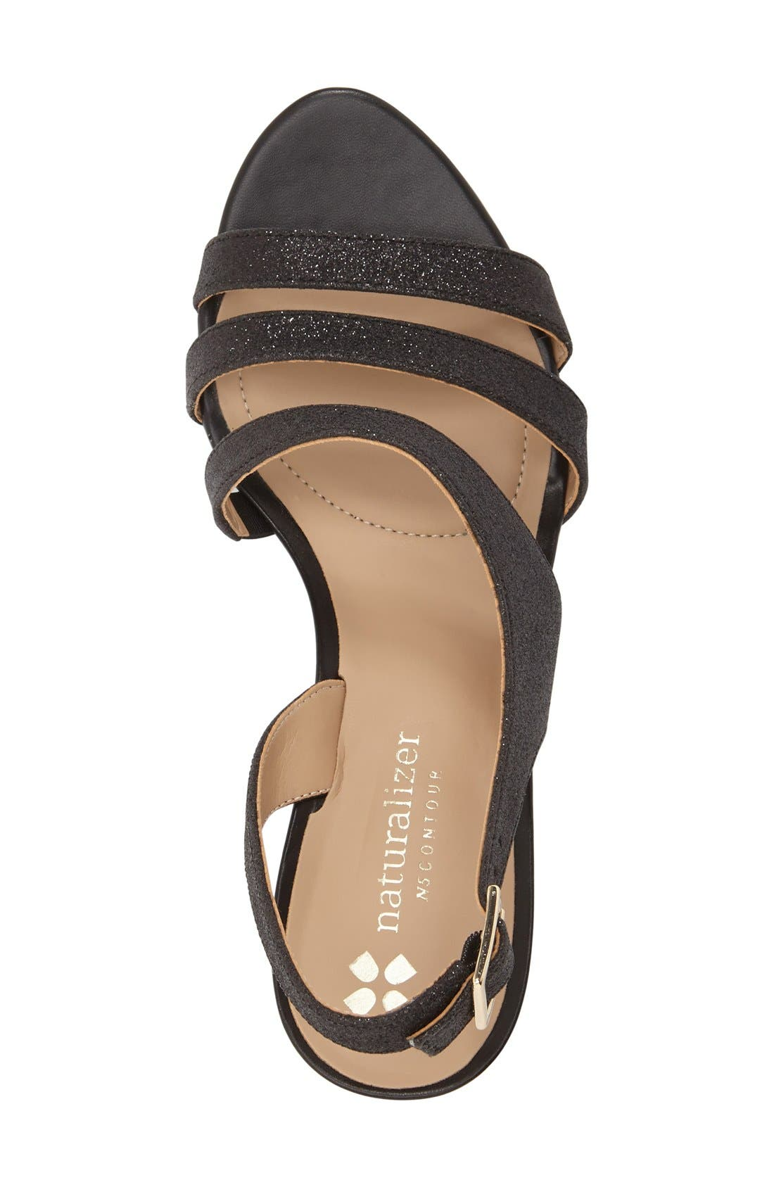 Taimi Sandal,                             Alternate thumbnail 2, color,                             Black Glitter