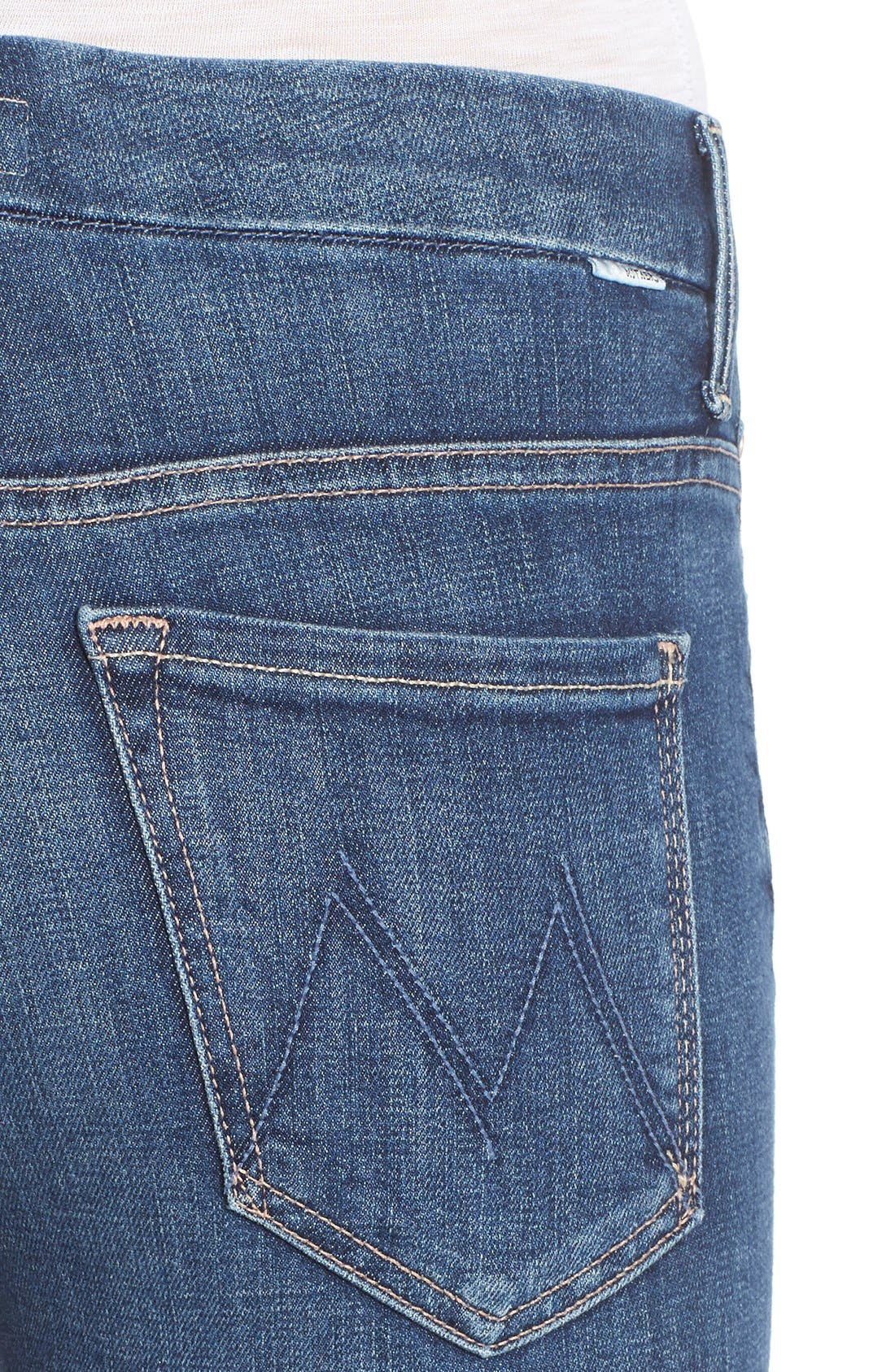 Alternate Image 4  - MOTHER 'The Looker' High Rise Skinny Jeans (Girl Crush)