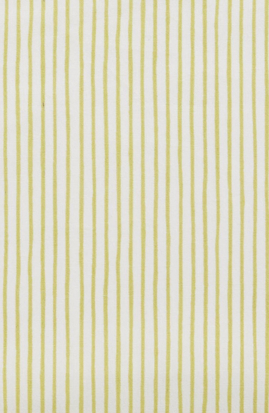Pencil Stripe Crib Sheet,                             Alternate thumbnail 2, color,                             Citron