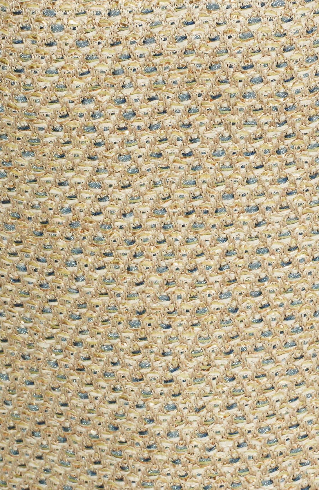 Alternate Image 3  - St. John Collection Fringe Trim Raffia Knit Pencil Skirt