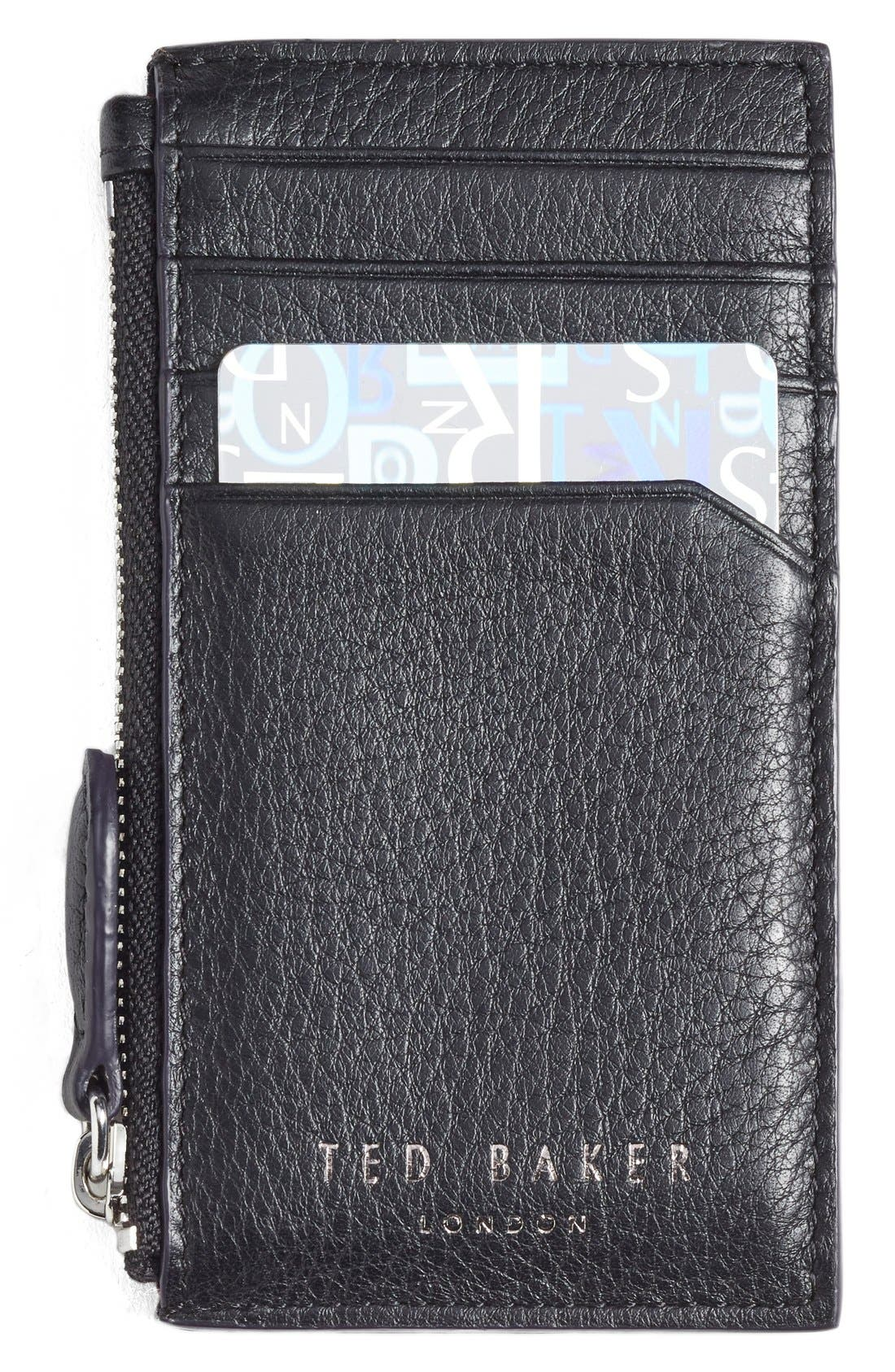 Alternate Image 1 Selected - Ted Baker London 'Longzip' Card & Coin Case