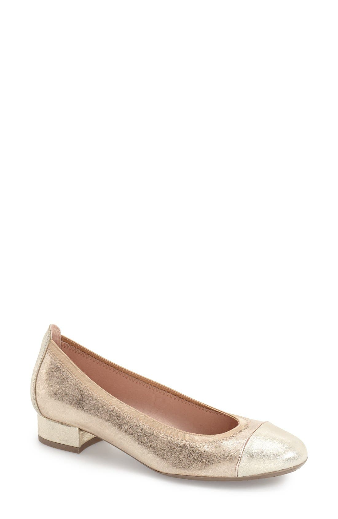 Alternate Image 1 Selected - Hispanitas 'Cali' Metallic Cap Toe Pump (Women)