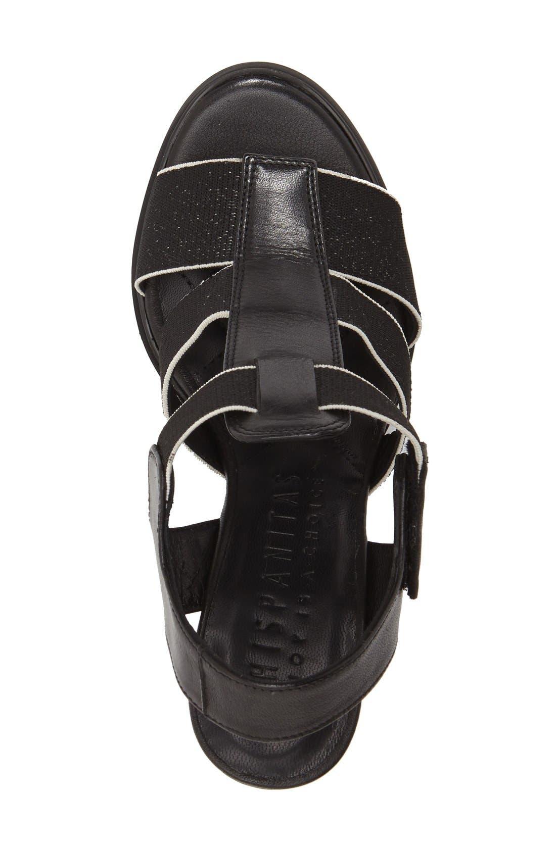 'Matchless' Sandal,                             Alternate thumbnail 3, color,                             Black Leather