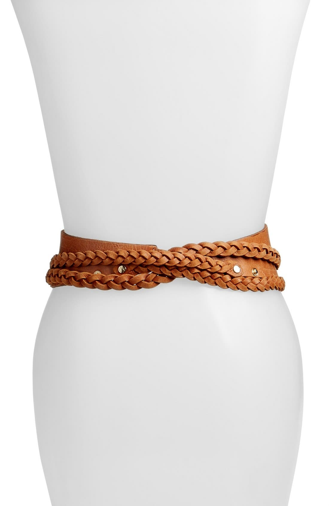 Alternate Image 2  - Ada 'Dakota' Braided Leather Wrap Belt