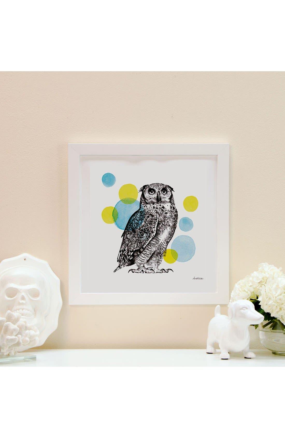 'Sketchbook - Owl' Giclée Print Framed Canvas Art,                             Alternate thumbnail 2, color,                             White