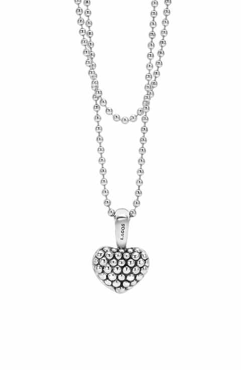 Womens pendant necklaces nordstrom lagos sterling silver heart long strand pendant necklace aloadofball Image collections