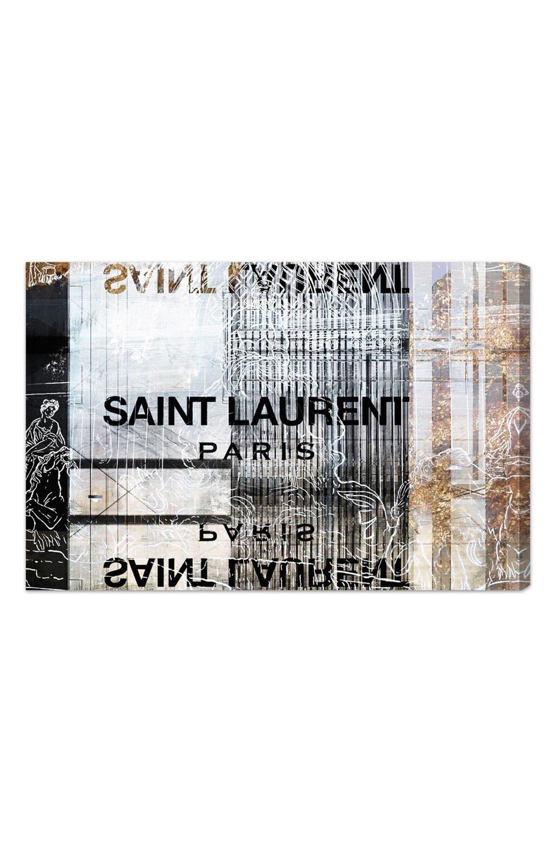 'Laurent Empire' Canvas Wall Art,                         Main,                         color, Black/ Multi