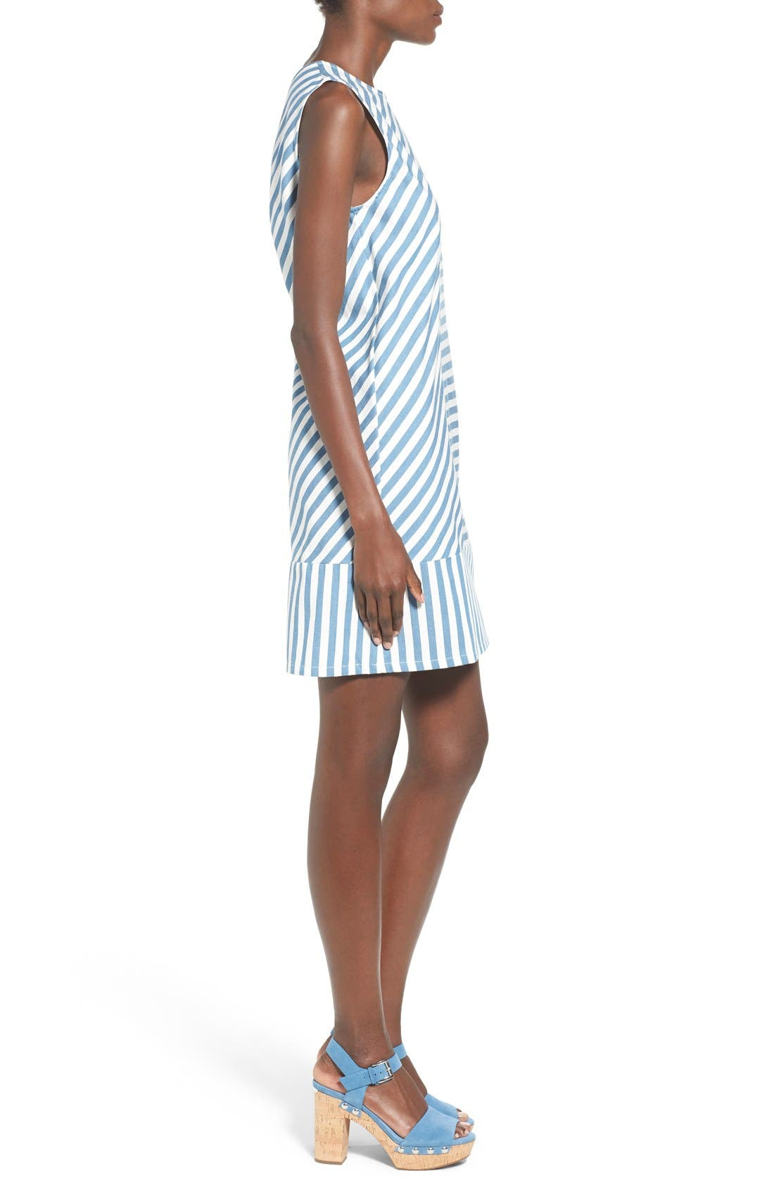 Alternate Image 3  - Rachel Antonoff 'Sam' Stripe Cotton Shift Dress