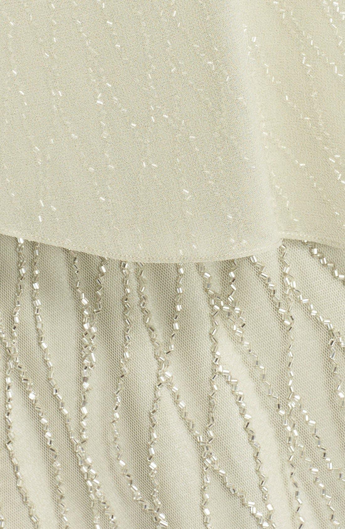 Alternate Image 5  - J Kara Chiffon Overlay Beaded Gown