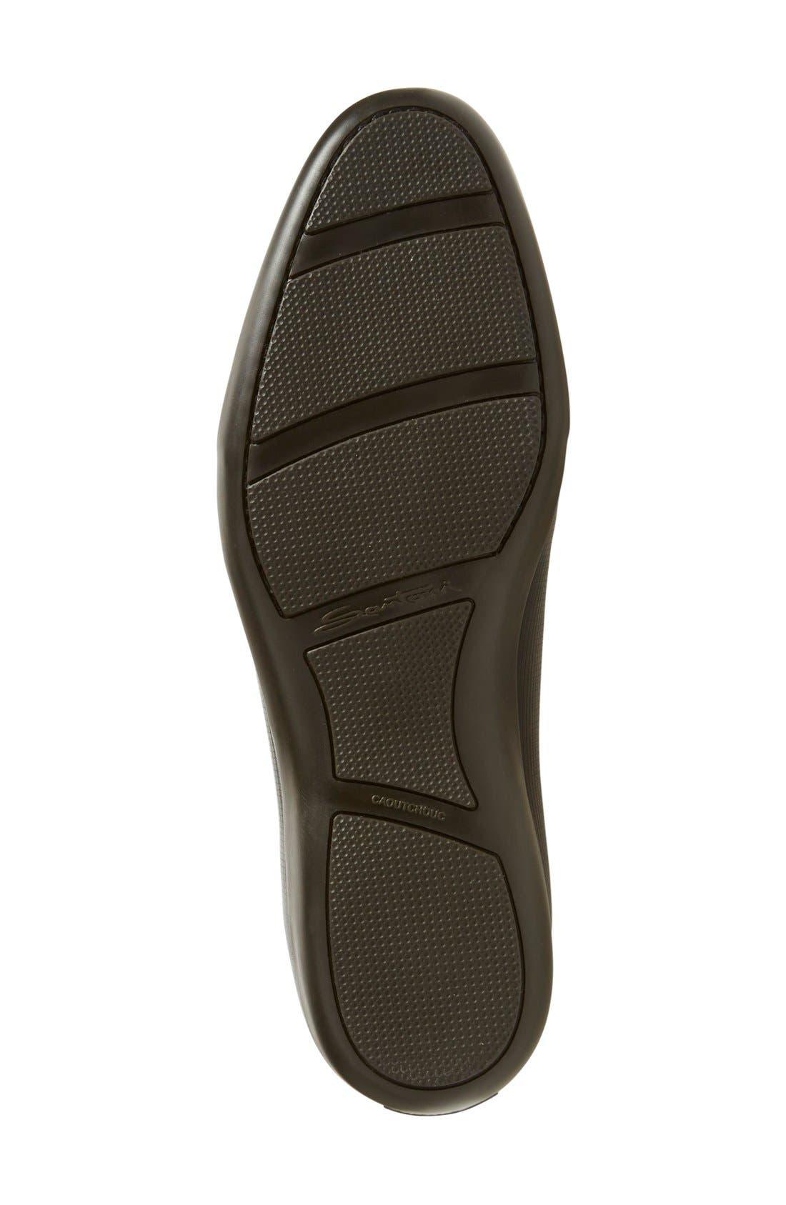 'Cortez' Sneaker,                             Alternate thumbnail 4, color,                             Black/ Black Leather