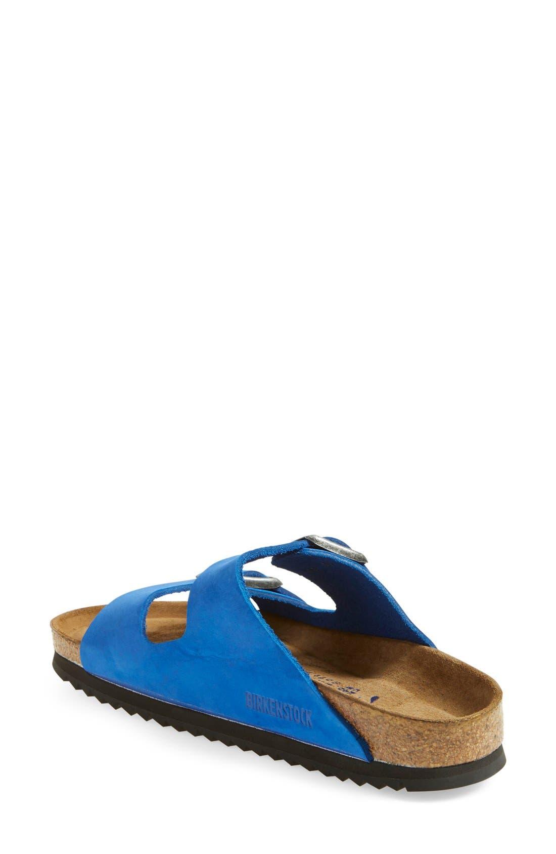 'Arizona' Sandal,                             Alternate thumbnail 2, color,                             Blue Nubuck