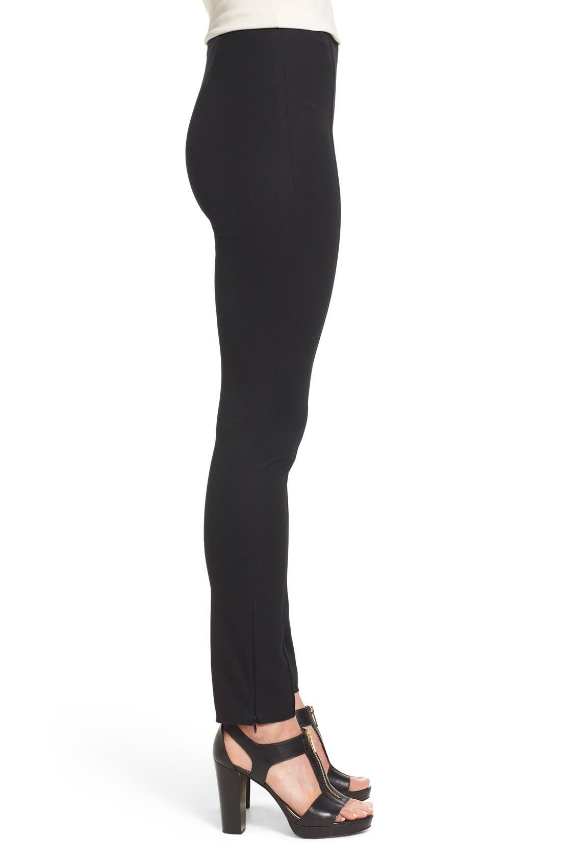 Alternate Image 3  - MICHAEL Michael Kors 'Hutton' Ankle Zip Slim Pintuck Pants (Petite)